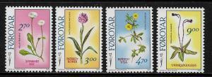 Faroe Is #169-72 MNH Set - Flowers