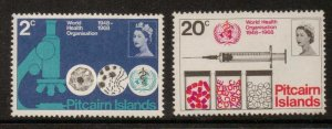 PITCAIRN ISLANDS SG92/3 1968 WORLD HEALTH ORGANISATION  MNH