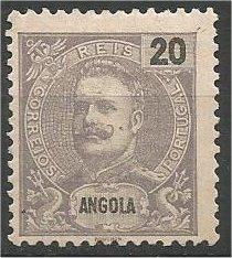 ANGOLA, 1898, MH 20r,  King Carlos Scott 43