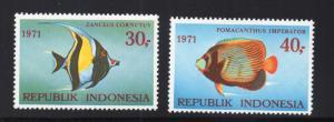 Indonesia - Sc# 811 & 812 MH / Fish   -    Lot 0615015