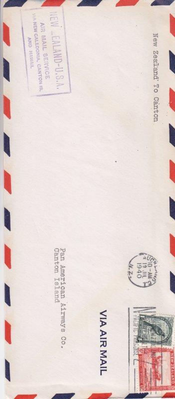 1940, 1st Flt., New Zealand-Canton Islands (S18293)
