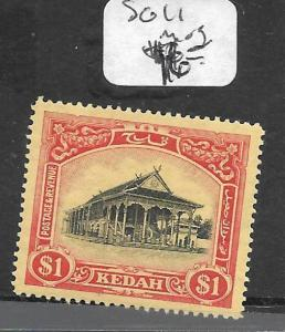 MALAYA KEDAH (P0311B)   $1.00  SG11   MOG