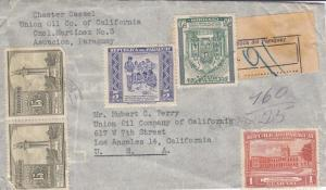 1946, Paraguay to Los Angeles, CA, Registered, Airmail, See Remark (11214)