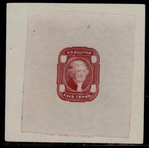 #67-E2a DIE II ESSAY ON PROOF PAPER (XF-SUPERB) RED BROWN BQ5759