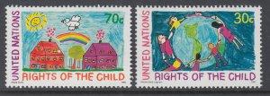 UN New York 593-594 MNH VF
