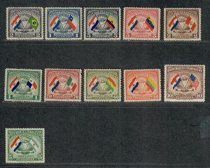 Paraguay Sc#415-418, C147-153 M/LH/VF, Cv. $21.40