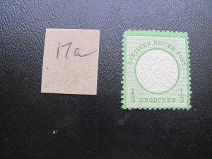 GERMANY 1872 HINGED MI.NR. 17a LARGE SHIELD SINGLE