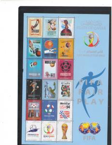 QATAR: Sc. 959, s  /**2002 WORLD CUP SOCCER**/ Sheet of 18 & SS / MNH-CV:$60+
