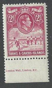 Turks and Caicos    mnh S.C. 87