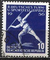 Germany DDR; 1956: Sc. # 298: O/Used CTO Single Stamp