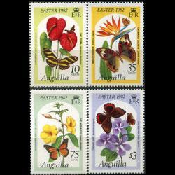 ANGUILLA 1982 - Scott# 480-3 Butterflies Set of 4 NH