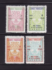 Paraguay C265-C268 Set MNH World Refugee Year (A)