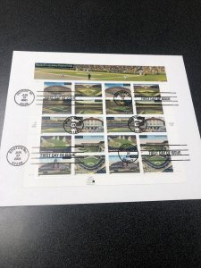 US 3510-19 Legendary Playing Fields Souvenir Page First Day Cover Of 10 , 2001