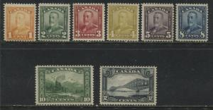 Canada 1929 definitives to 12 cents all unmounted mint NH