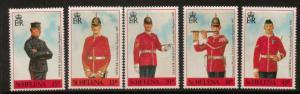 ST.HELENA SG586/90 1991 MILITARY UNIFORMS MNH