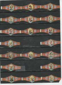 CIGAR BANDS... USA PRESIDENTS ...ALL DIFFERENT (CB-017)