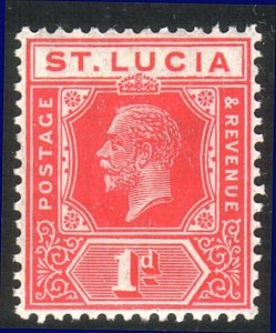 ST LUCIA GV 1d SG92 fine mint - lightly hinged.............................52942