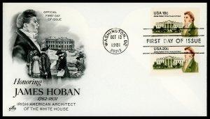 US FDC #1935-1936 Hames Hoban - Artcraft Cachet