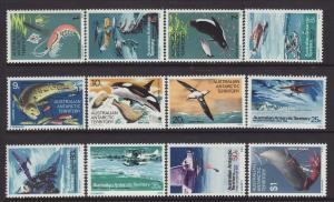 1973 Australian Antarctic Territory Explorers/Food Chain Set MNH SG 23/34