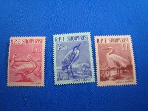 ALBANIA 1961 - SCOTT # 592-594   MNH