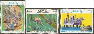 Qatar 1972 Scott 311-313 Short Set Oil from the Sea MNH