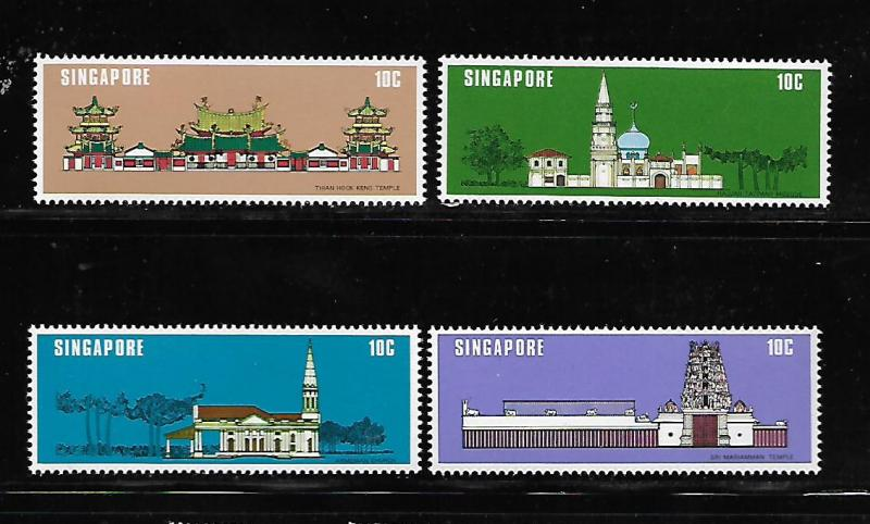 SINGAPORE, 299-302, MNH, NATIONAL MONUMENTS
