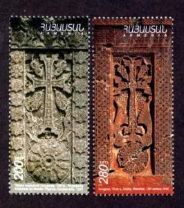 Armenia 907-908 Mint NH Cross Stone Carvings 2012!