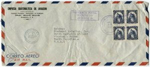 GUATEMALA to USA Airmail Registered Cover Latin America #354 Stamps Postage 1961