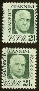 1400 - 21c Misperf Error / EFO Amadeo Giannini Mint NH