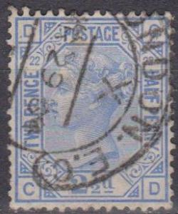 Great Britain #82 Plate 22 F-VF Used CV $40.00  (A9396)