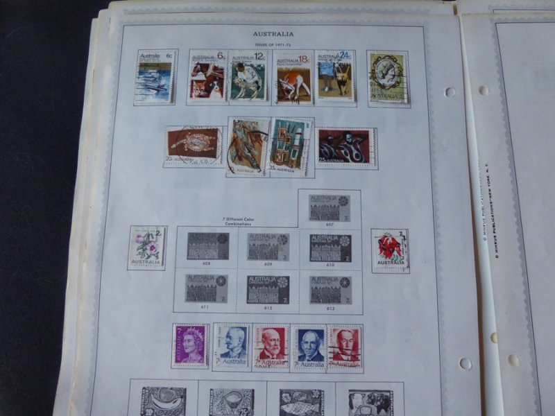 Australia 1909-1974 Stamp Collection on Album Pages