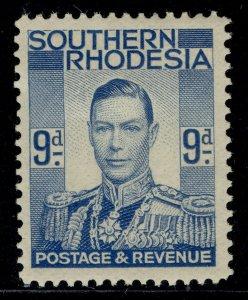 SOUTHERN RHODESIA GVI SG46, 9d pale blue, M MINT.