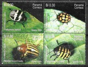 #1739 PANAMA 1998 FAUNA INSECTS YV 1180-3 MNH