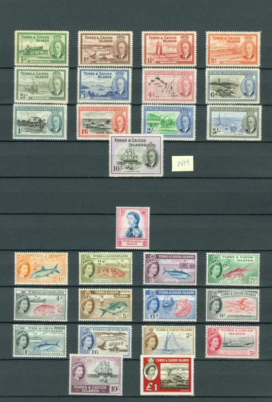 TURKS & CAICOS : Beautiful collection all MOG & VF. Some NH included SG Cat £332