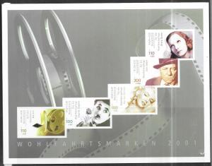 Germany #B894b Film Stars booklet Pane (MNH) CV $14.00