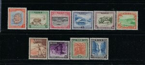 NIUE SCOTT #94-103 1950 SET - MINT: 3 STAMPS HR OTHERS LIGHTHINGED