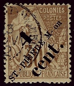 St. Pierre & Miquelon Sc #44 Used F-VF hr...French Colonies are Hot!