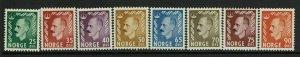 Norway SC# 345-352, Mint Hinged, Hinge Remnant, 251 minor diag crease - S9368