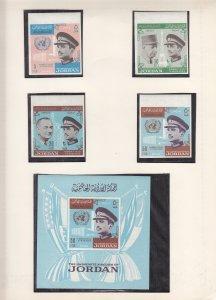 Jordan: king Hussein Visit to US, 1965, Sc #523-523c, Imperf Set, MNH (S18190)