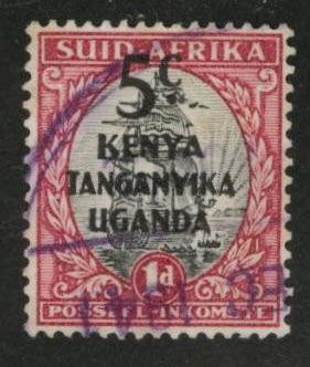 Kenya Uganda and Tanganyika KUT Scott 86b Used
