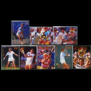 St. Vincent Bequia MNH 260-7 Wimbledon Tennis 1988 SCV 5.40