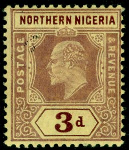 NORTHERN NIGERIA SG32, 3d purple/yellow, M MINT.