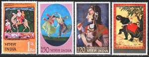 India. 1973. 561-64. Painting, dogs. MNH.