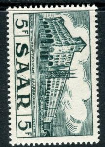 GERMANY SAAR;  1952-55 early Pictorial issue Mint hinged 5Fr. value