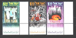 Israel. 2005. 1843-45 + cup. Protecting the rights of children. MNH.