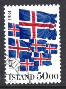 Iceland 591 Flags Used VF