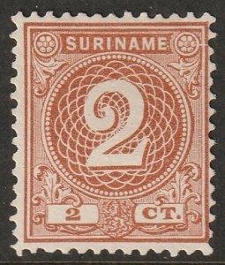 Suriname 1890 Sc 18 MNG(*)