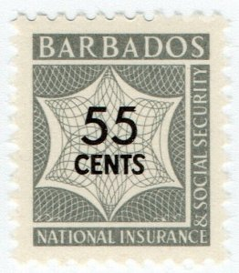(I.B) Barbados Revenue : National Insurance & Social Security 55c (unlisted)