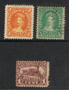 NEW BRUNSWICK 1860 - 63 QUEEN VICTORIA & LOCOMOTIVE