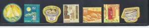 Japan 2017 Autum Greetings Complete Used Set Sc# 4143 a-g 82Y